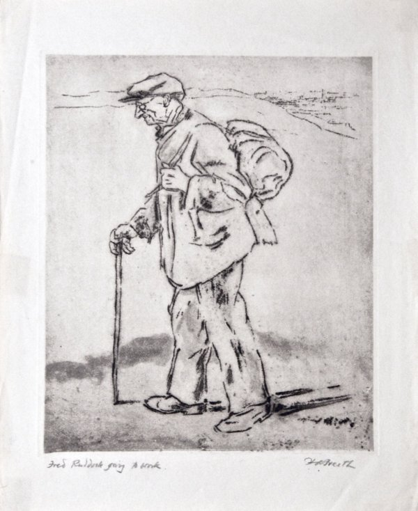 Fred Ruddock Going To Work by Hubert Andrew Freeth