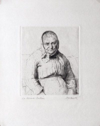 La Nonna Bellini by Hubert Andrew Freeth at
