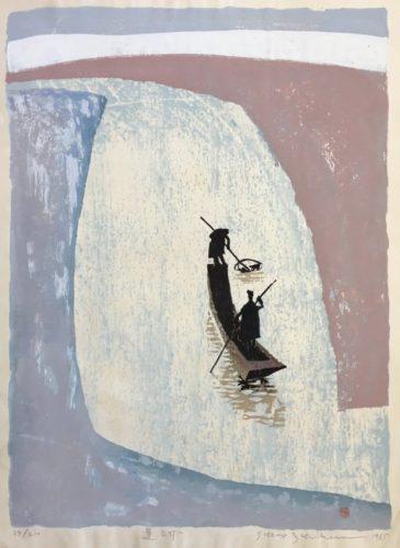 Fishing On A River by Ichikawa