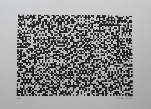 Binary Code (black) by Invader