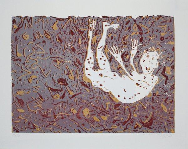 Fliegender / Flying Man by Irmgard Dahms