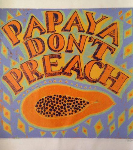 Papaya Don't Preach, Lilac by Isabel Rock