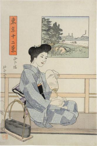 Twelve Views Of Tokyo: Mukojima by Ishii Hakutei