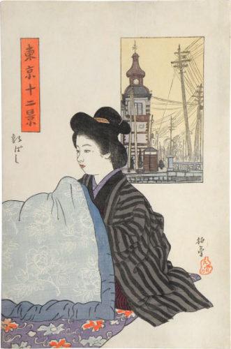 Twelve Views Of Tokyo: Shinbashi by Ishii Hakutei