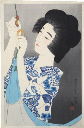 The First Collection Of Modern Beauties: Mosquito Net by Ito Shinsui