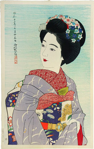 The Second Collection Of Modern Beauties: Maiko Girl by Ito Shinsui at Ito Shinsui