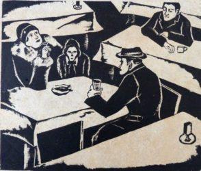 Bar Scene by Jacob Eisenscher at Gilden's Art Gallery (IFPDA)