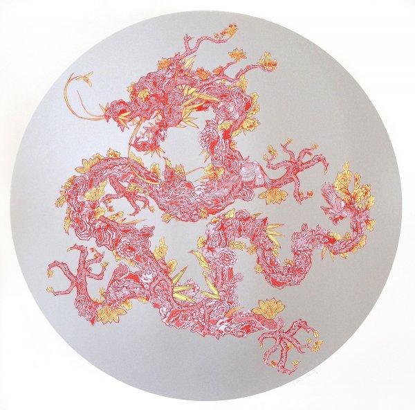 Floral Dragon (shanghai Tang Series) by Jacky Tsai