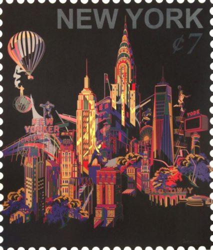 Ny Cityscape Stamp by Jacky Tsai