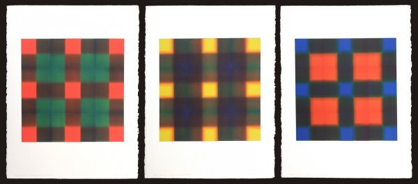 Nine Series (nine Red, Nine Yellow, Nine Blue) by James Stroud at
