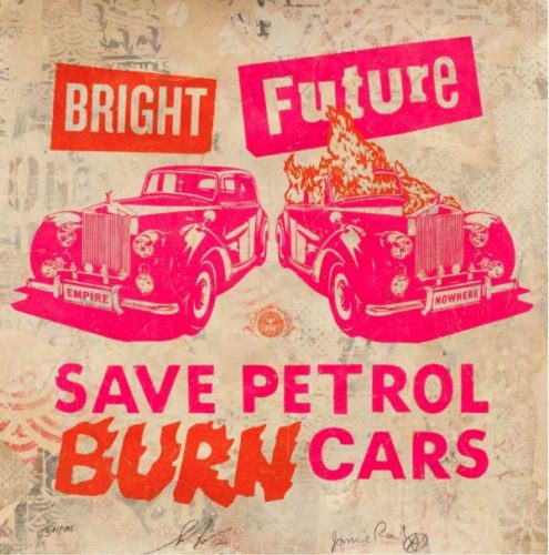 Bright Future (pink/orange) by Jamie Reid & Shepard Fairey