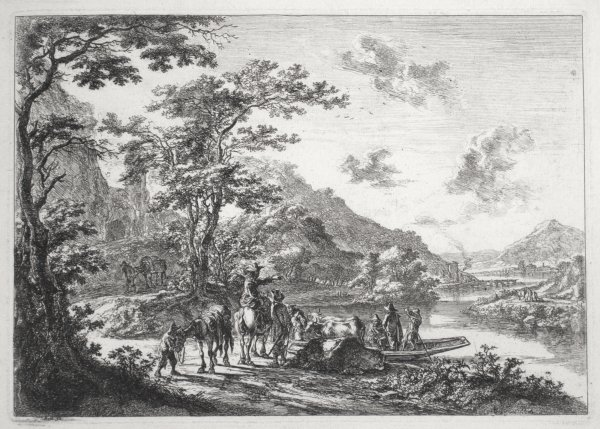 View Of The Tiber With Country Landscape by Jan Both at