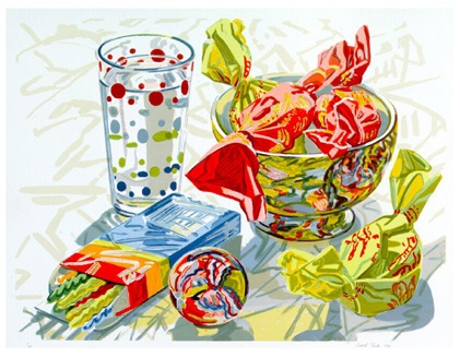 Still Life With Candy by Janet Fish
