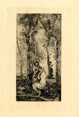 La Toilette / The Bath by Jean-Baptiste-Camille Corot at