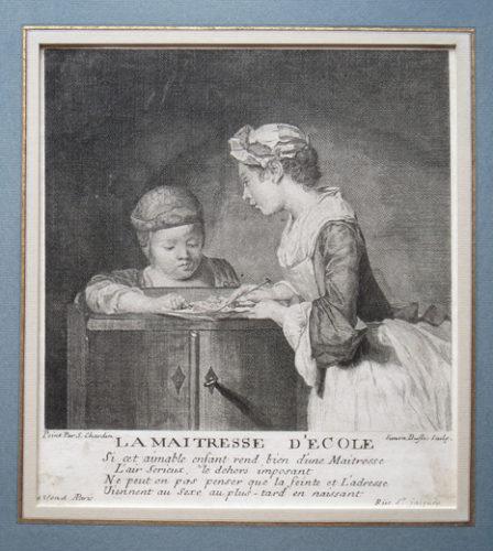 La Maîtresse D'ecole by Jean-Baptiste Siméon Chardin