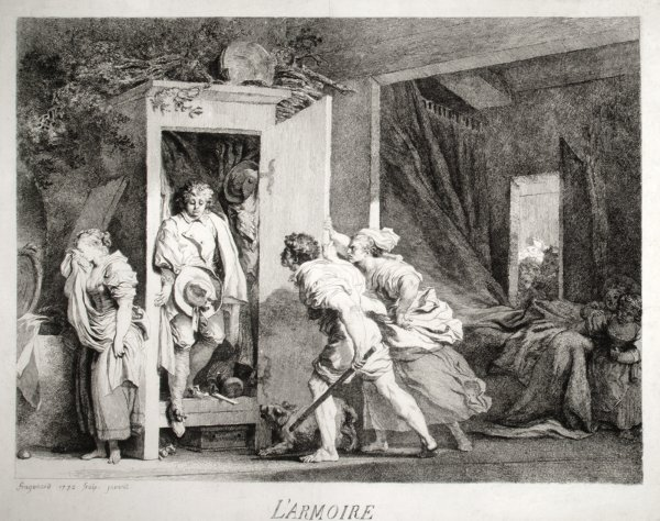 L'armoire (2nd State) by Jean Honoré Fragonard