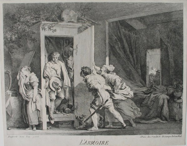 L'armoire (the Cupboard) by Jean Honoré Fragonard