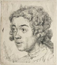 Self-portrait As A Young Man by Jean-Étienne Liotard at Sarah Sauvin (IFPDA)