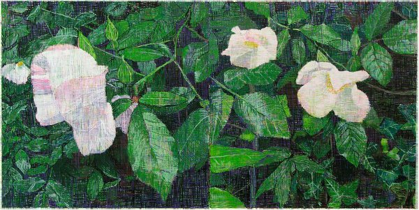 White Roses by Jennifer Bartlett at