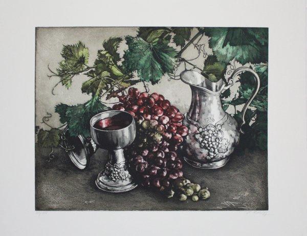 Stilleben Mit Wein / Still Life With Wine by Jens Rusch