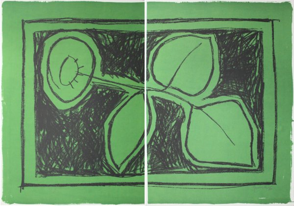 Flor Sobre Verd / Flower On Green by Joan Hernandez Pijuan