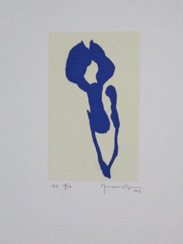 Iris Blau Ix / Blue Iris Ix by Joan Hernandez Pijuan