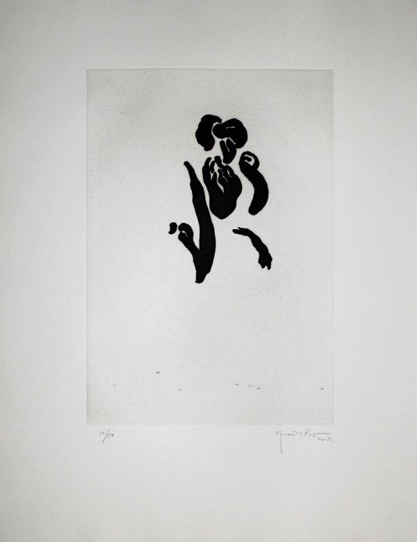 Iris Negre Iii / Black Iris Iii by Joan Hernandez Pijuan