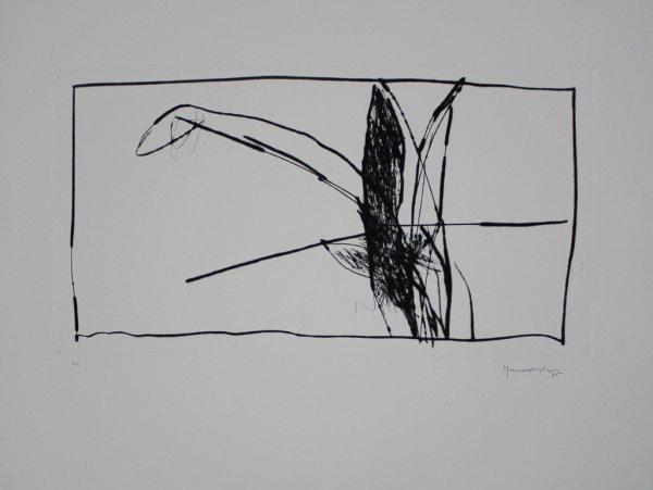 Paisatge Amb Xiprers V / Landscape With Cypresses V by Joan Hernandez Pijuan