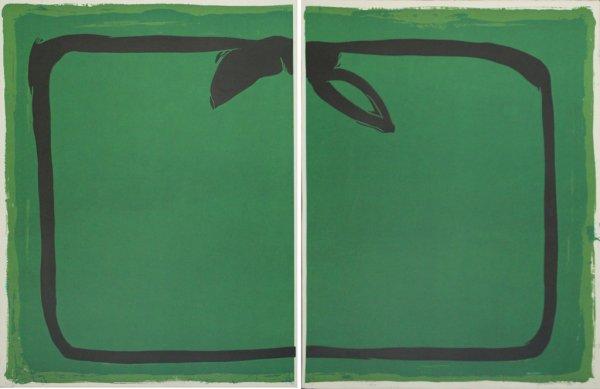 Verd I Orla Negra / Green, And Black Border by Joan Hernandez Pijuan