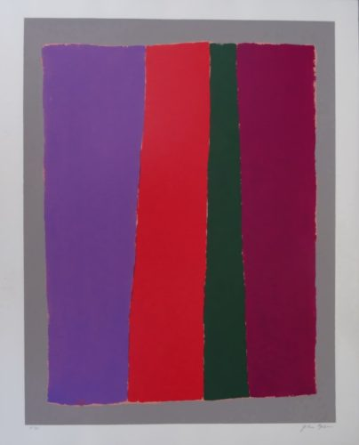 Vertical Red (with Violet And Green) by John Opper at