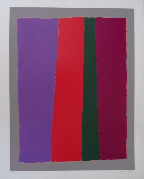 Vertical Red (with Violet And Green) by John Opper