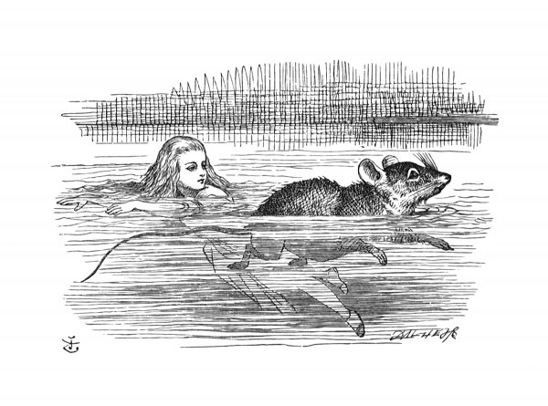 'o Mouse, Do You Know The Way Out Of This Pool?' by John Tenniel