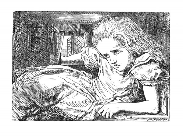 Still She Went On Growing, And As A Last… by John Tenniel