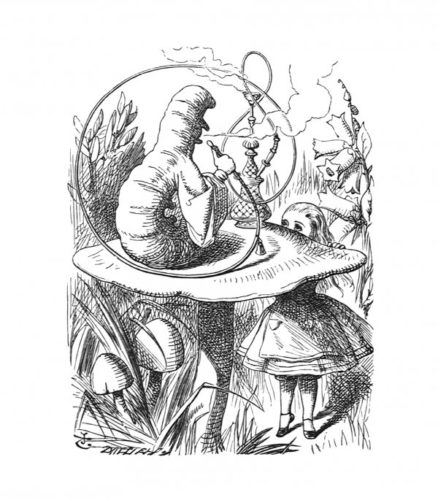 The Caterpillar And Alice Looked At Each Other For by John Tenniel