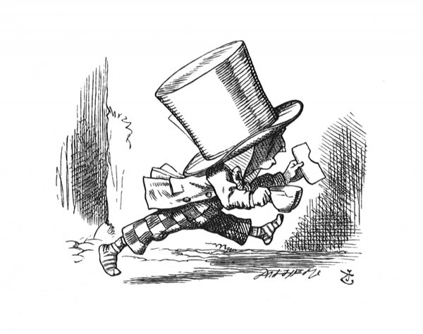 The Hatter Hurriedly Left The Court, Without… by John Tenniel