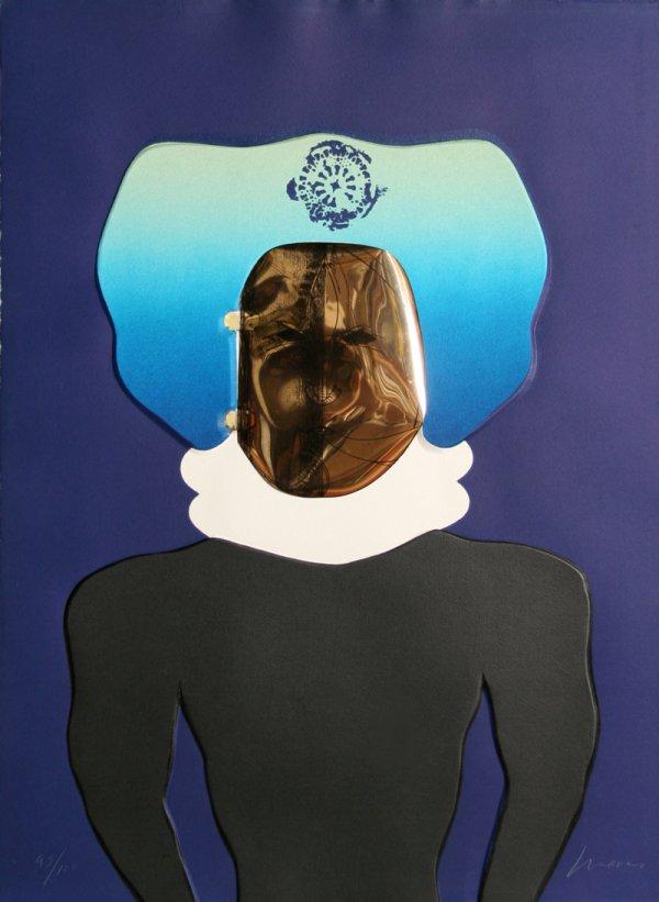 La Mascara From The Homage To Quevedo Portfolio by Jose Luis Cuevas