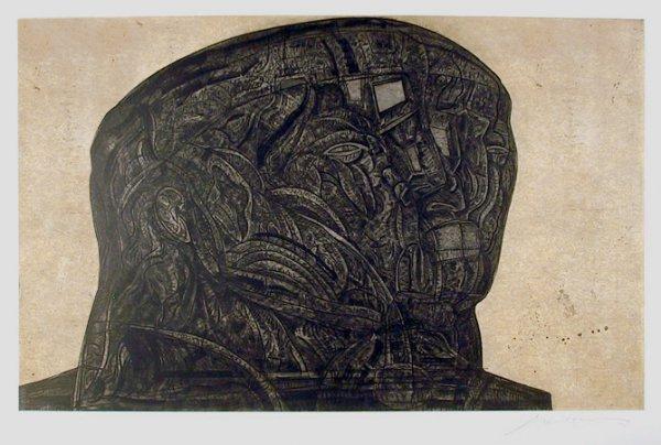 Marquez De Sade From The Intolerance Portfolio by Jose Luis Cuevas at Jose Luis Cuevas
