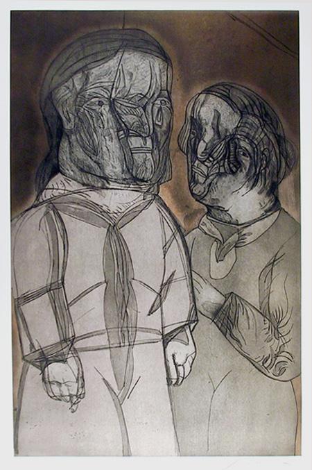 Ustine Y El Marquez De Sade From The Intolerance P by Jose Luis Cuevas