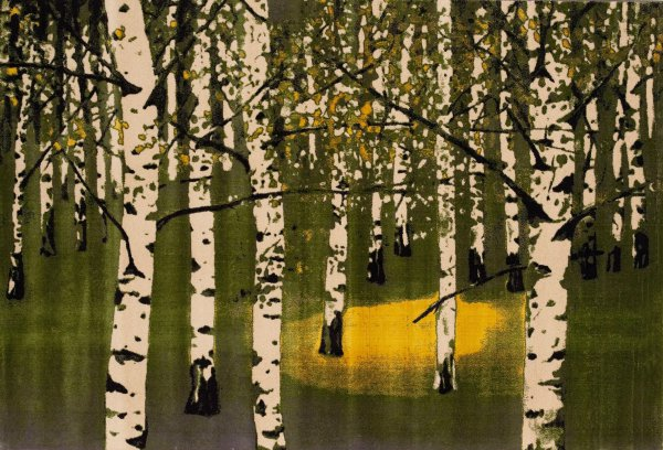 Birkenwald Iv by Josef Felix Muller