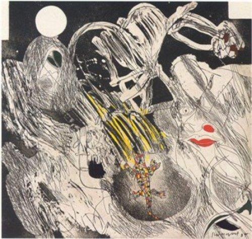 Asesinado Por El Cielo, Entre Las Formas Que Van.. by Josep Guinovart