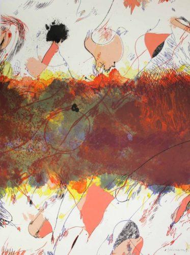 Entre Dues Roses by Josep Guinovart at