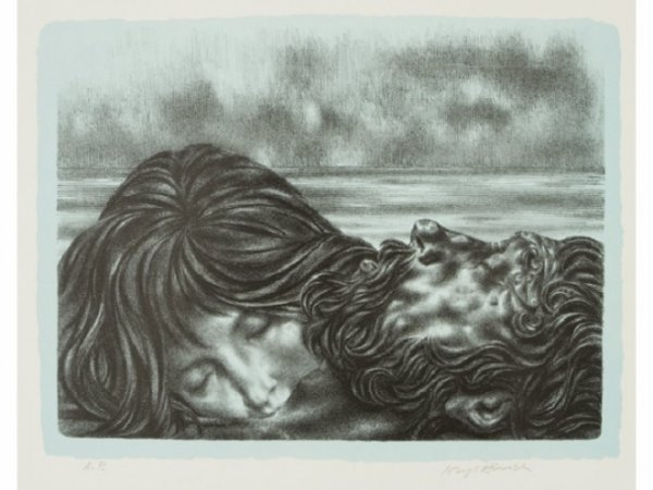 "Couples (includes ""couple And One"", ""nereid And Poseidon"", ""wakening&#... by Joseph Hirsch at"