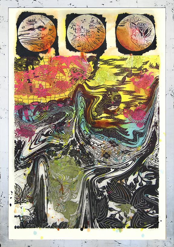 The Three Fishes by Judy Pfaff