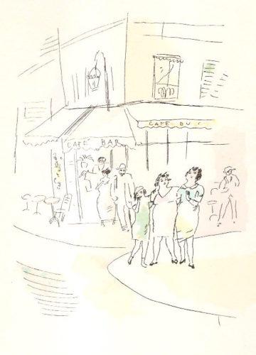 3 Petites Filles Dans La Rue. Dessins En Couleurs De Pascin by Jules Pascin