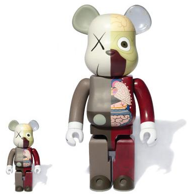 719730ce Dissected Companion: Bearbrick 400% & 100% (red) by KAWS. Available at  Lougher Contemporary