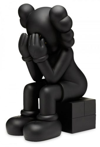 Passing Through (black) by KAWS at KAWS