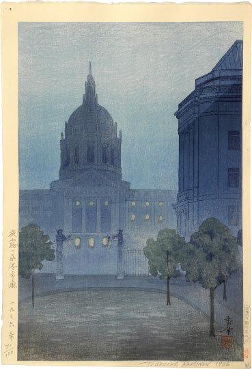 Night Mist Over San Francisco City Hall by Kakunen Tsuruoka
