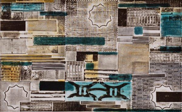Pattern Language – Kind Of Blue 1 by Katherine Kiefer
