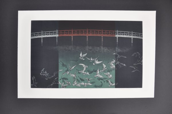 Window Birds by Katsunori Hamanishi at Hanga Ten - Contemporary Japanese Prints