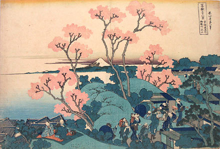 Thirty-six Views Of Mt. Fuji: Fuji From Goten-yama, At Shinagawa On The Tokaido [edo] by Katsushika Hokusai